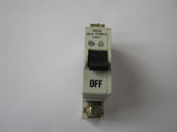 WYLEX NB30 B30 30 AMP TYPE 2 SINGLE POLE MCB CIRCUIT BREAKER.